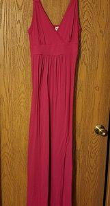 Long Pink Summer Dress